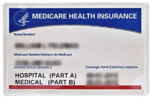 New Medicare Card Holder Protector Sleeve Clear 6mil (5) ()