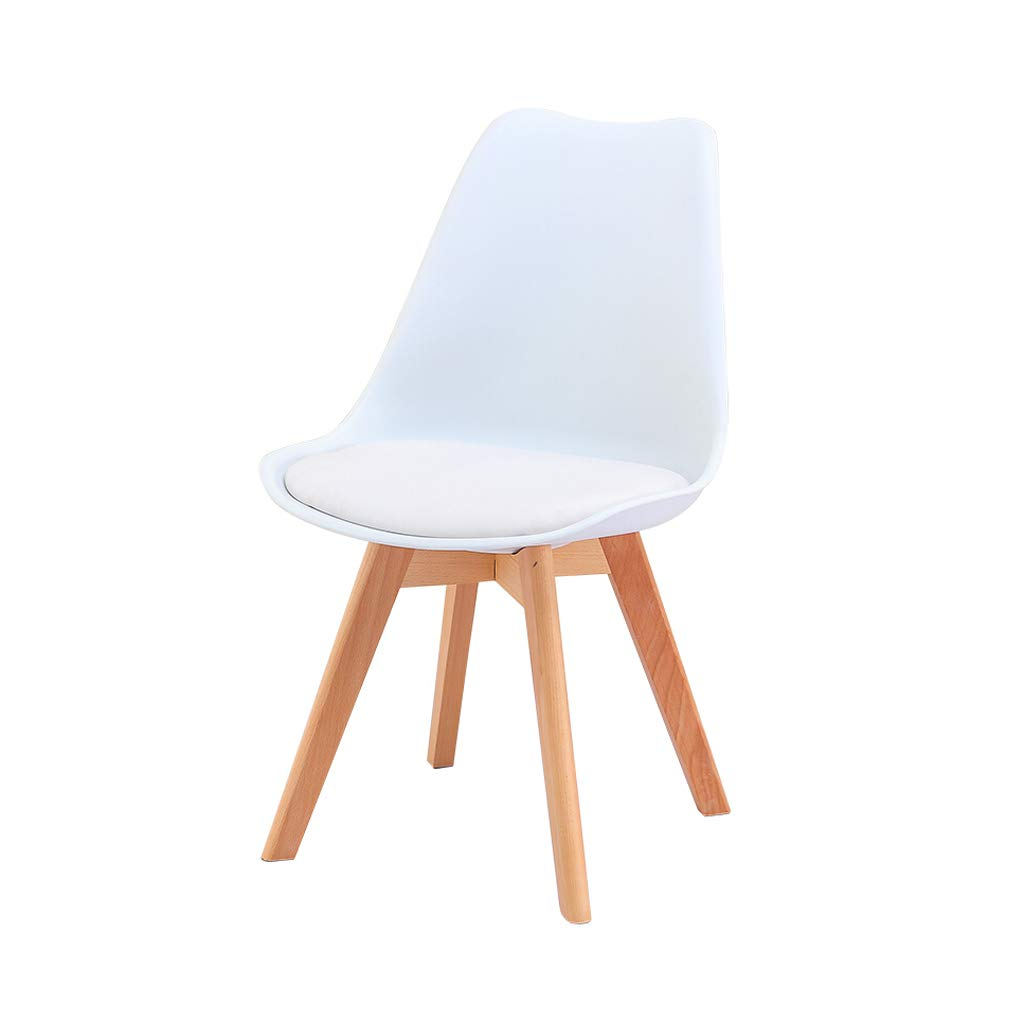 White Leisure Chair Dining Chair Reception Chair Simple Fashion Creative Bedroom Living Room Lounge Chair Sitting Height 46cm Multicolor (color   RED)