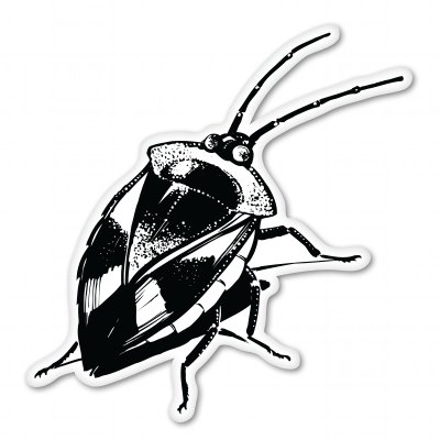 Stink Bug Vinyl Sticker - Car Window Bumper Laptop - SELECT SIZE