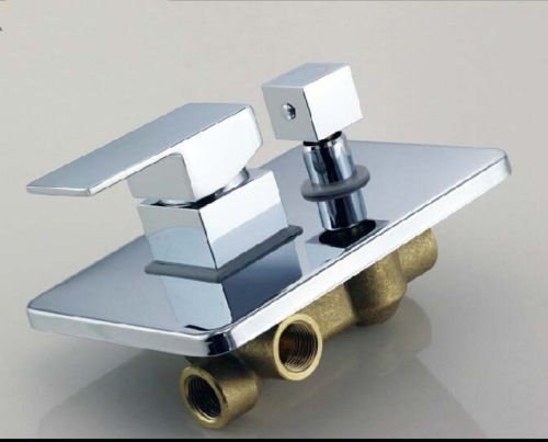 Kitchen Faucet, 3 Way Wall-mount Shower Faucet Control Valve Mixer Tap Single Handle W/ Diverter, Bathroom Faucets