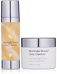 Meaningful Beauty by Cindy Crawford – Rejuvenating Night Antioxidant Protection Bundle – Crème de Serum – Anti-Aging Night Crème – MT.2061