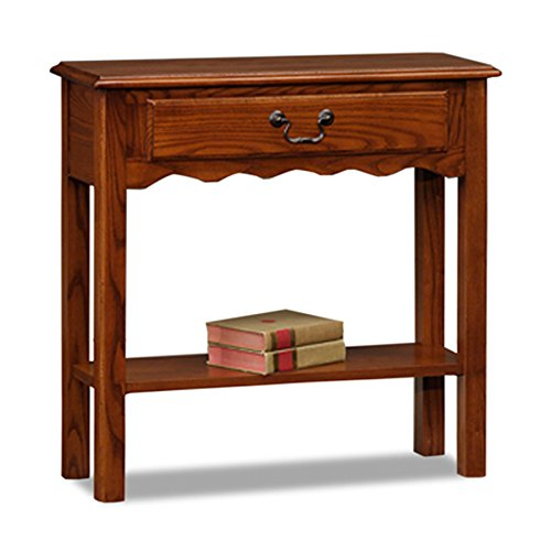 Leick Wave Hall Console Table, Medium Oak Finish