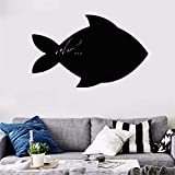 Wall Decal Sticker Art Mural Home Decor Quote Chalkboard Cartoon Fish Stickers for Kids Room for Nursery Kid Bedroom