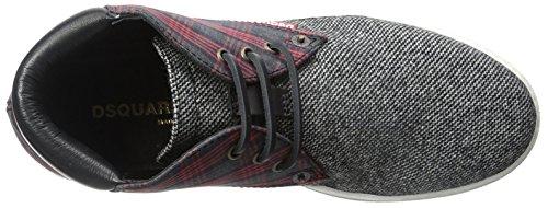 Dsquared2 Mens Plaid Sneaker Nero / Rosso