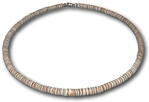 - Native Treasure Smooth Arabica Puka Shell Necklace - 5mm (3/16