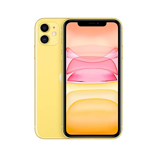 Apple iPhone 11 (64 GB) – Amarillo (incluye Earpods, adaptador de corriente)