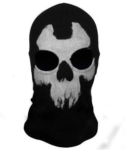 Full Face Skeleton Ghost Skull Face Mask Hood Biker Halloween Gift Balaclava (BS-07) -
