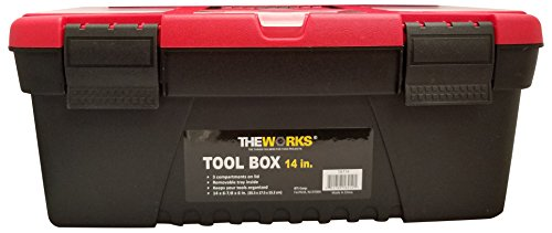 (THEWORKS TBT14 Tool Box with Lift Out Tray, 14