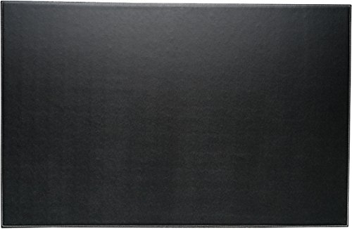 Bey-Berk Leather Desk Pad Black, 18 x 28,