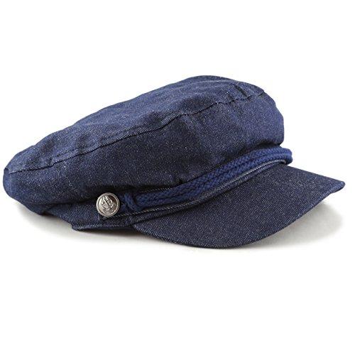 c022b239 THE HAT DEPOT Black Horn Unisex Cotton Greek Fisherman's Sailor Fiddler Hat  Cap