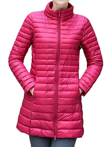 Thin Stand MU2M up Zip Down Two Weight Light Jacket Women Ultra Insulated Collared Packable 5THqHFgx