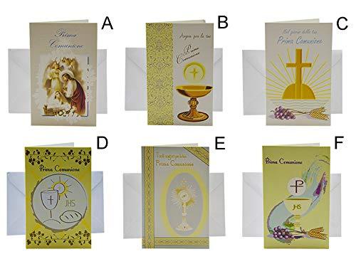 Due Esse - Tarjeta de felicitación de comunión, 8,5 x 14 cm ...