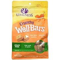 Golosinas naturales para perros crujientes Wellness Wellbars, cordero y manzana, caja de 20 onzas