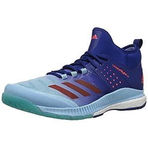 adidas Women's Crazyflight X Mid Volleyball Shoes,Mystery Ink/Blaze Orange/Ice Blue,10M US