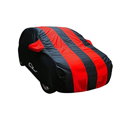 Autofurnish Stylish Red Stripe Car Body Cover For Renault Kwid – Arc Red Blue