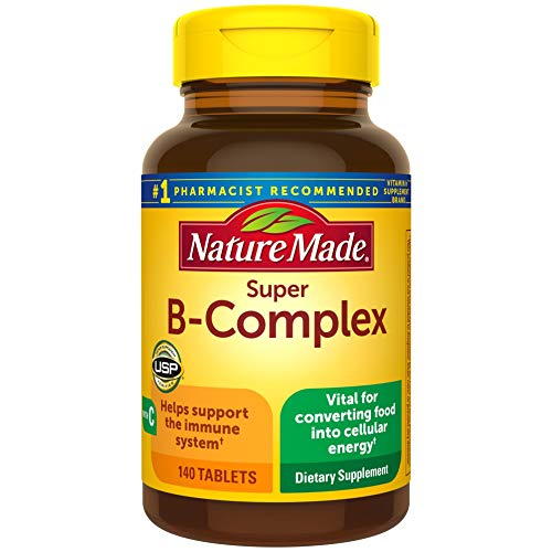 Nature Made Super B-Complex with Vitamin C Tablets, 140 Count Value Size for Metabolic Health† (Packaging May Vary)