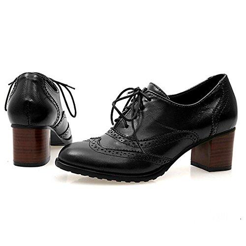 Scarpe Donna Moda Black Zanpa Oxford BHqqt
