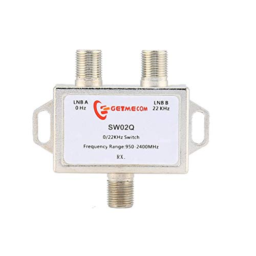 0/22Kz satellite signal switch 22K 2 cut 1 two in one out JS- SW02Q with nickel-plated finish professional line ()