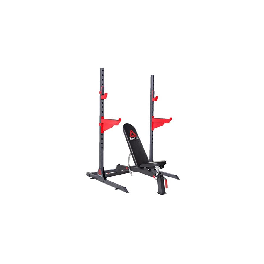 Reebok Deluxe Utility Training Bench and Squat Rack Set