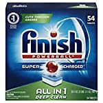 FINISH 81158BX Powerball Dishwasher Tabs, Fresh Scent, Box of 54 Tabs