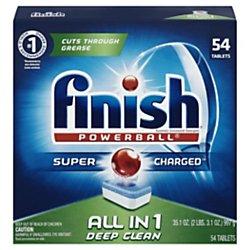 FINISH 81158BX Powerball Dishwasher Tabs, Fresh Scent, Box of 54 Tabs