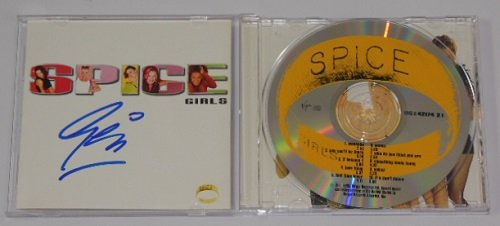 Geri Halliwell Ginger Spice Spice Girls Signed Autographed Music Cd Compact Disc - Baby Wannabe Spice
