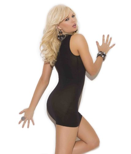 Elegant Moments Women's Opaque Cupless Mini Dress