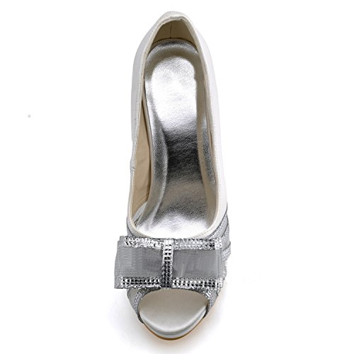 Kevin Fashion , Chaussure de mariée fashion femme - beige - Beige - marfil, 43 EU EU