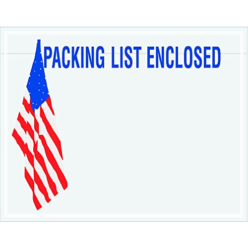 Tape Logic TLPL468 Packing List Enclosed Envelopes, U.S.A. Flag, 7