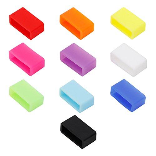 Henoda 10 Colors Silicone Fasteners for Garmin Vivofit Wristband (Pack of 10)