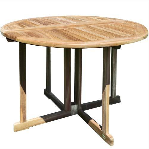 Teako Design Savona - Mesa Plegable (Redonda, Resistente a la ...