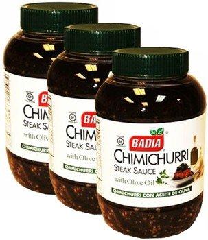 Badia Chimichurri Steak Sauce 8 oz Pack of 3 (Sauce Badia)