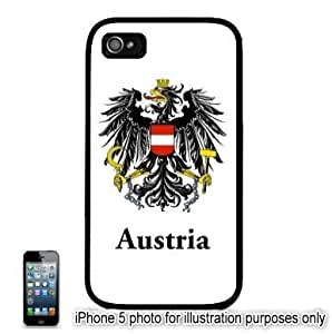 Austria Coat of Arms Flag Apple iPhone 5 Hard Back Case Cover Skin Black by mcsharks