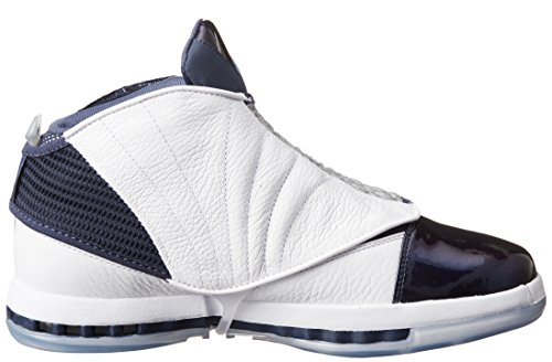 Nike Jordan Heren Air Jordan 16 Retro Wit / Wit Midnight Marine Casual Schoen 10.5 Mannen Ons