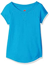 Hanes girls Little Girls V-notch X-temp Tee