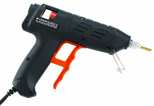 Crain 203 Black Glue Gun and Nozzle, 80-Watts