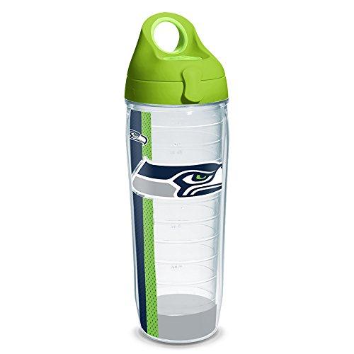 Tervis NFL Seattle Seahawks Stripe 24oz Clear Water Bottle with Lime Green (Seattle Seahawks Bottle)
