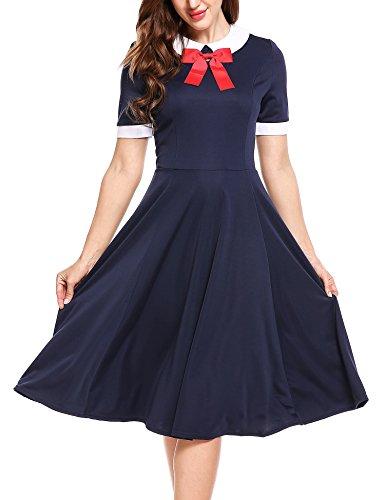 ACEVOG Womens Sleeve Vintage Pleated product image