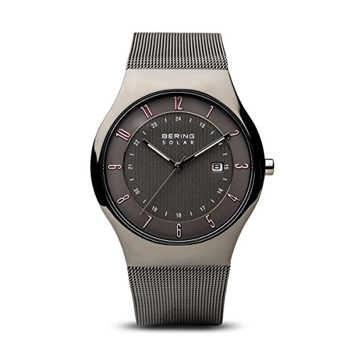 BERING Time 14640-077 Men Solar Collection Watch with Stainless-Steel Strap and Scratch Resistent Sapphire Crystal. Designed in Denmark