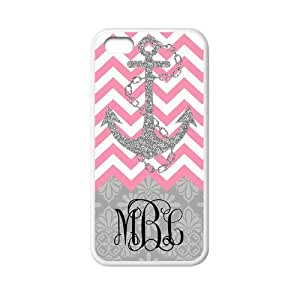 Zig Zag Pink Chevron Navy Anchor Gray Retro Pattern Personalized Custom Phone Case Zig Zag Best Cover Case For Iphone 5C by runtopwell