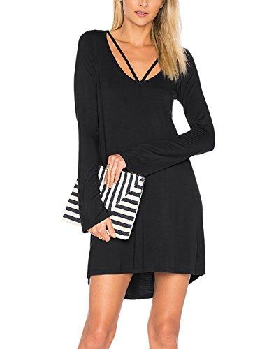 Sleeveless Tank Black Casual 1 Loose Cotton Women's Top Simple Swing Summer Dress T Shirt Dohia Dresses 8E6qR4