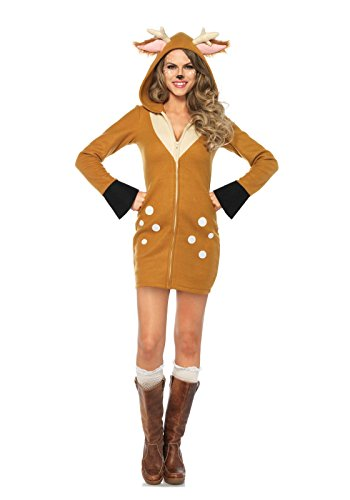 Leg Avenue Women's Cozy Cute Fawn Dress Costume, Brown/Khaki, X-Large