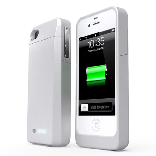 UNU Power DX External Protective Battery Case for iPhone 4s/4 - Retail Packaging - White