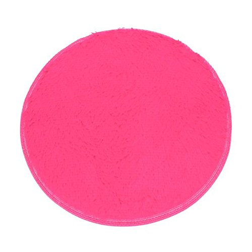 droom Rugs Non-slip Round Soft Coral Fleece Carpet Shower Floor Mats (Hot Pink) (100 3' Round Area Rug)