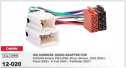 CARAV 12-020 AUTORRADIO ISO Cable adaptador para NISSAN ALMERA MICRA MURANO PATROL X-TRAIL PATHFINDER