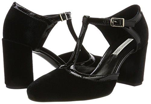 Para Y Mujer Tosca Zapatos C99 Negro Vertical nero Tira Tacon Tarvisio Con Blu pFqS6O