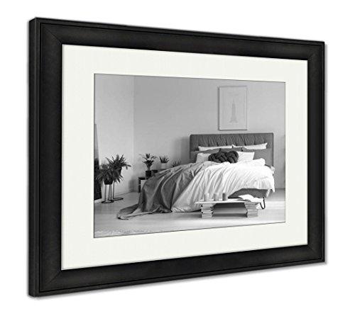 Ashley Framed Prints Elegant Interior of Bedroom, Wall Art Home Decoration, Black/White, 34x40 (Frame Size), Black Frame, AG6471973 ()