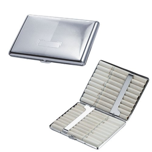 Visol Products Felix Chrome Plated Brass Cigarette Case