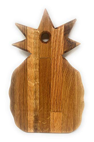 All Natural Ozark Oak Cutting and Carving Board Pineapple Design Smooth and Sturdy Cheese Board 12x7.5x1 Inches A4