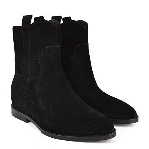 Negro Negro Ante Botines Ash Jane de Zapatos Mujer xqwU460RF